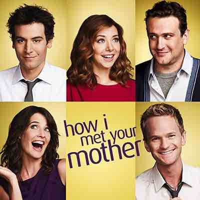 immagine dei cinque protagonisti della serie tv How I Met Your Mother