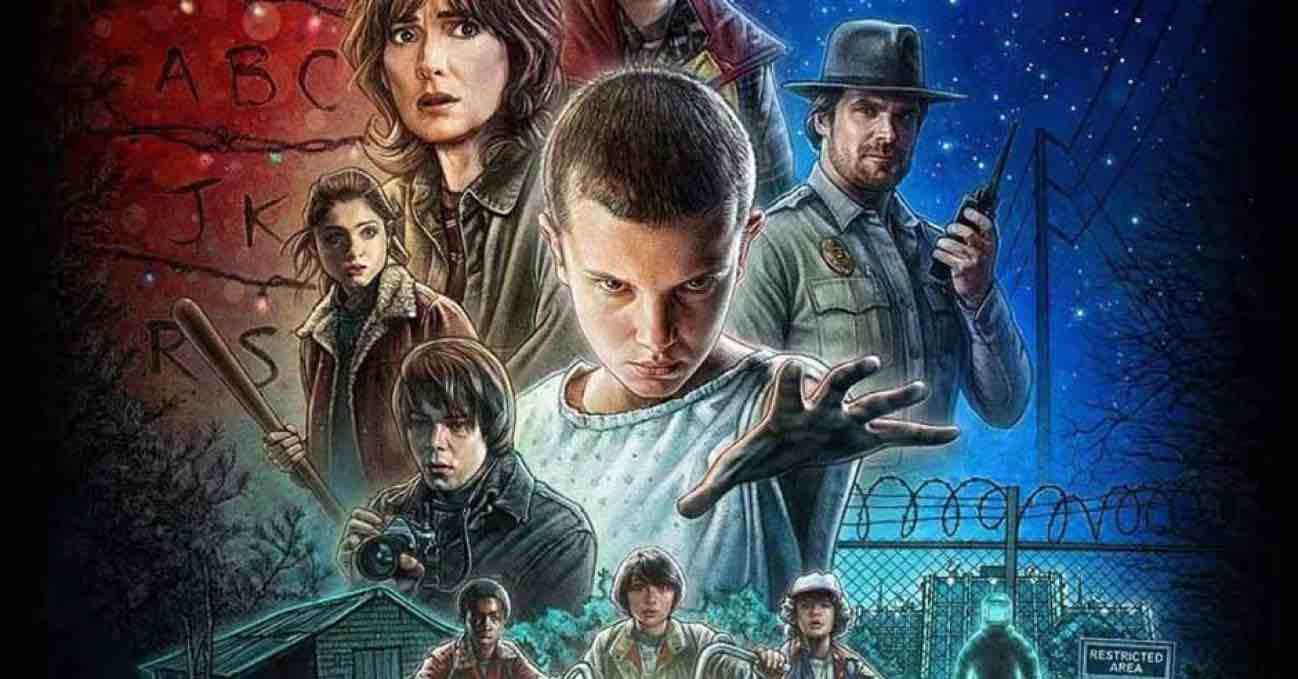 locandina di Stranger Things la serie tv con Millie Bobby Brown